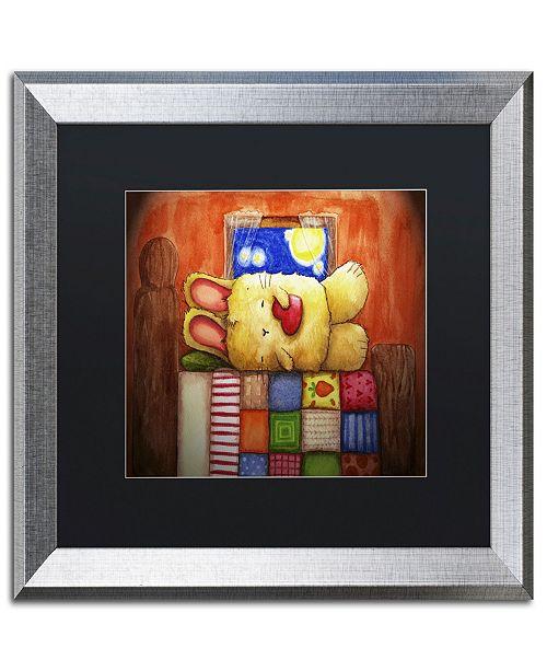 "Trademark Global Jennifer Nilsson Sweet Dreams Bunny Matted Framed Art - 11"" x 14"" x 0.5"""