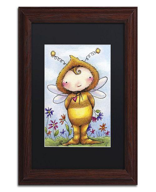 "Trademark Global Jennifer Nilsson Baby Bumble Matted Framed Art - 11"" x 14"" x 0.5"""