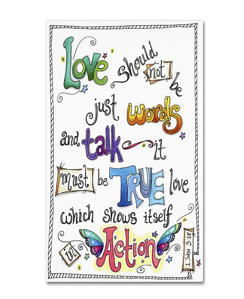 "Trademark Global Jennifer Nilsson Words of Love - Love in Action Canvas Art - 18"" x 24"" x 2"""