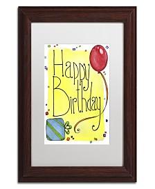 "Jennifer Nilsson Happy Birthday Matted Framed Art - 24"" x 32"" x 2"""