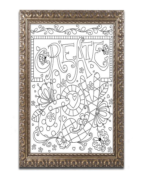 "Trademark Global Jennifer Nilsson Create Joy Ornate Framed Art - 16"" x 16"" x 0.5"""