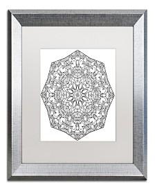 "Kathy G. Ahrens Sublime Mandala Matted Framed Art - 24"" x 24"" x 2"""