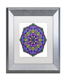 "Kathy G. Ahrens Sublime Sunshine Mandala Matted Framed Art - 14"" x 14"" x 2"""