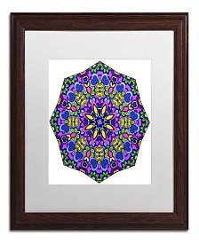 "Kathy G. Ahrens Sublime Sunshine Mandala Matted Framed Art - 11"" x 11"" x 0.5"""