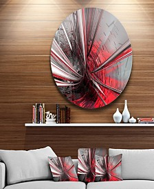 "Designart 'Fractal 3D Deep Into Middle' Abstract Circle Metal Wall Art - 23"" x 23"""
