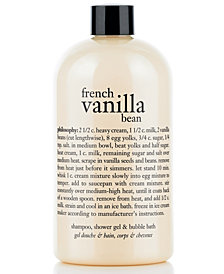 philosophy french vanilla bean ice cream 3-in-1 shampoo, shower gel & bubble bath, 16 oz