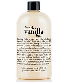 philosophy french vanilla bean ice cream 3-in-1 shampoo, shower gel & bubble bath, 16 oz