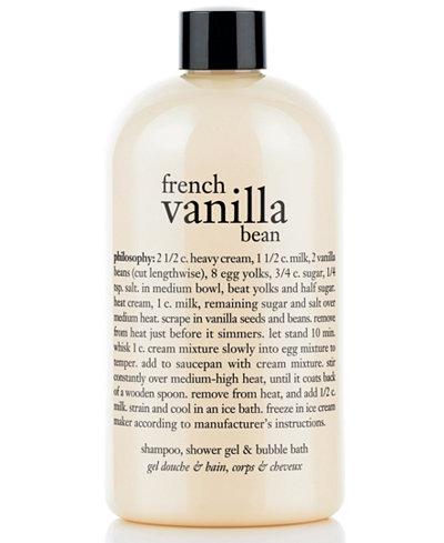 Philosophy French Vanilla Bean Ice Cream 3 In 1 Shampoo Shower Gel