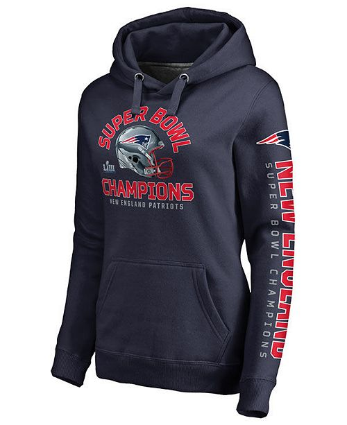 Majestic Women's New England Patriots Super Bowl LIII Champ Two Minute Drill Hoodie