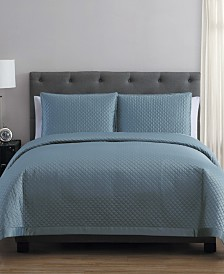 Adrianna Charmeuse 3 Piece King Quilt Set