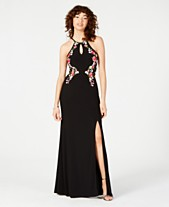 bb94c96f75 Morgan & Company Juniors' Embroidered Halter Gown