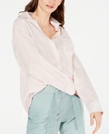 Weekend Max Mara Viadana Linen Striped Button-Up Shirt