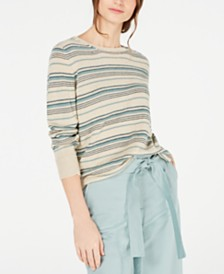 Weekend Max Mara Esordio Linen Striped Sweater