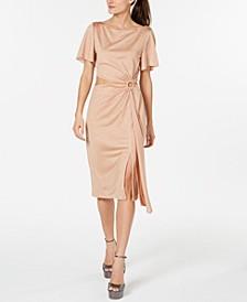 Shimmer Cutout O-Ring Dress