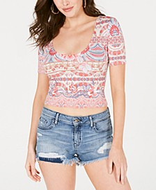 Carolina Scoop-Neck Crop Top