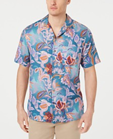 Tasso Elba Men's Cira Floral Silk Shirt, Created for Macy's