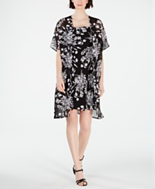 Calvin Klein Floral-Print Slip Dress & Jacket