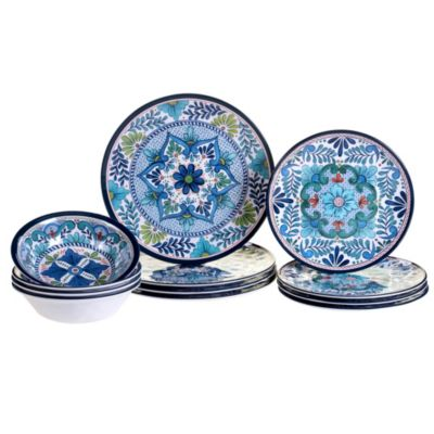 Talavera 12-Pc. Melamine Dinnerware Set