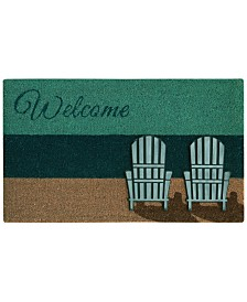 "Bacova Beach Chairs 18"" x 30"" Doormat"