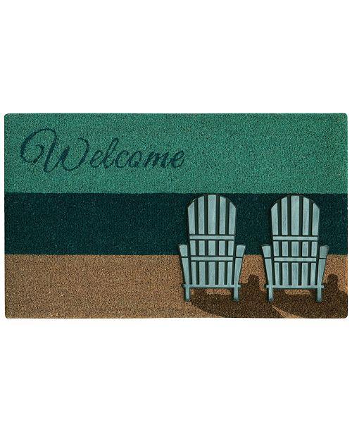 "Bacova Beach Chairs 18"" x 30"" Doormat"