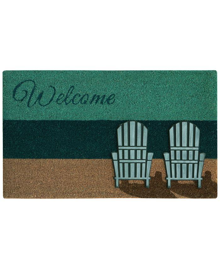 "Bacova - Beach Chairs 18"" x 30"" Doormat"