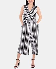Sleeveless Striped Gaucho Jumpsuit