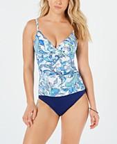 e6e5b9f1b8 Lauren Ralph Lauren Fiesta Print Slimming-Fit Tankini Top   Brief Bottoms