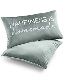 "Lacourte 2-Pk. Happiness is Homemade 14"" x 24"" Decorative Pillows"