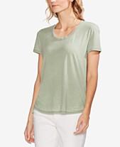 695c5075f4e5a2 Vince Camuto Burnout High-Low T-Shirt