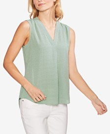 Vince Camuto Single-Pleat Sleeveless Top