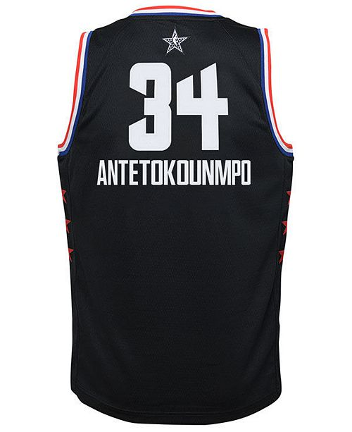 5834de349 ... Outerstuff Big Boys Giannis Antetokounmpo Milwaukee Bucks All Star  Swingman Jersey ...