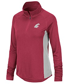 Women's Washington State Cougars Albi Quarter-Zip Pullover