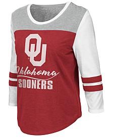 Colosseum Women's Oklahoma Sooners Colorblocked Raglan T-Shirt