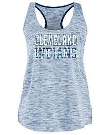 5th & Ocean Women's Cleveland Indians Space Dye Back Logo Tank