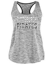 5th & Ocean Women's Pittsburgh Pirates Space Dye Back Logo Tank