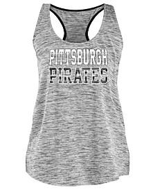 5th & Ocean Women's Pittsburgh Pirates Space Dye Back Logo Tank