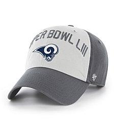 '47 Brand Los Angeles Rams Super Bowl LIII Team ID Clarke CLEAN UP Strapback Cap