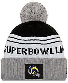 New Era Los Angeles Rams Super Bowl LIII Participant Pom Knit Hat