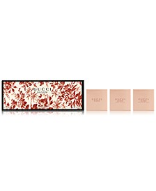 Receive a Complimentary Gucci Bloom Perfumed Soap 3-Pc. Set with any large spray purchase from the Gucci Bloom Fragrance Collection