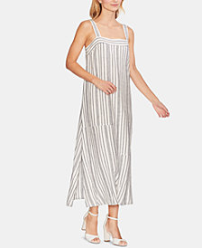 Vince Camuto Striped Square-Neck Maxi Dress
