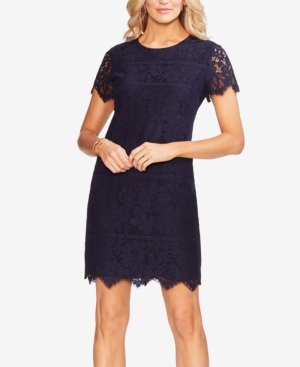Vince Camuto Dresses SCALLOP-TRIM LACE SHIFT DRESS