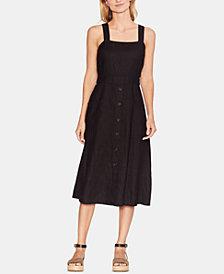 Vince Camuto Linen Button-Trim Dress