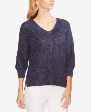 Vince Camuto Sweaters 3/4-SLEEVE HIGH-LOW SWEATER