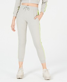 Waisted Reflective-Trim Sweatpants