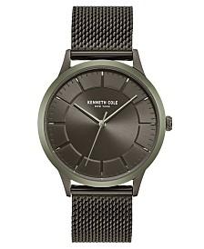Kenneth Cole New York Men's Gunmetal Stainless Steel Mesh Bracelet Watch 41mm