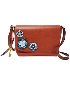 Fossil Maya Flowers Flap Crossbody