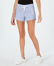 Logo Curved-Hem Shorts