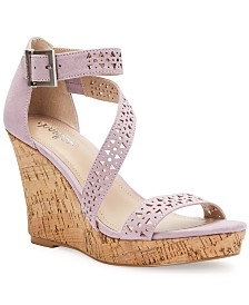 CHARLES by Charles David Landon Platform Wedge Sandals