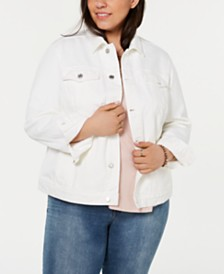 Lucky Brand Plus Size The Tomboy Trucker Jean Jacket