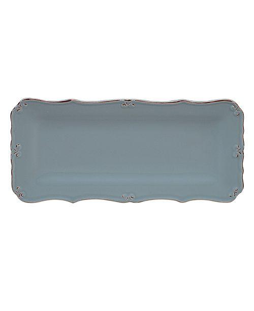 Certified International Vintage Blue Bread Tray